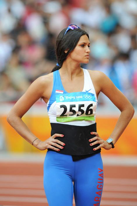 Paraguayan javelin thrower and model Leryn Franco