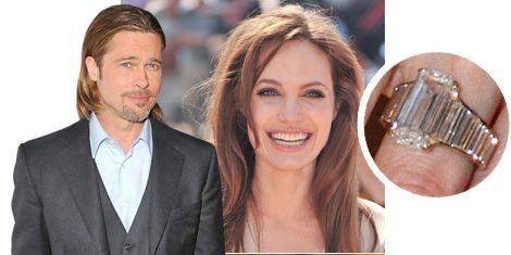 brad pitt designed angelina jolies engagement ring but how does it compare with jennifer anistons rock plus what tom cruise prince charles - Melania Trump Wedding Ring