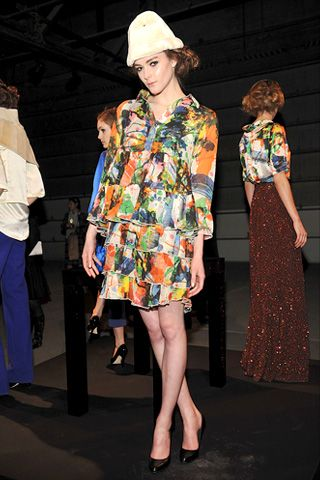 Footwear, Leg, Outerwear, Style, Pattern, Fashion, Street fashion, Fashion show, One-piece garment, Fashion model,