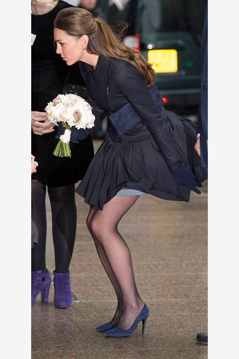 8db67d6548909 Kate Middleton's Mini Skirt - The Queen Objects to the Length of Kate's  Skirt