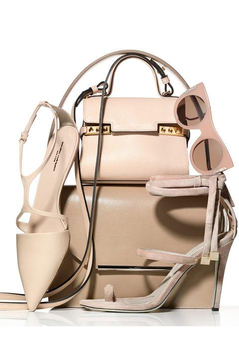 Product, Brown, White, Bag, Style, Sandal, Fashion, Shoulder bag, Leather, Metal,