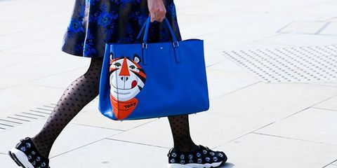 Clothing, Blue, Bag, Pattern, Style, Luggage and bags, Street fashion, Fashion accessory, Electric blue, Shoulder bag,