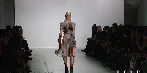 Clothing, Shoulder, Fashion show, Joint, Dress, Style, Fashion model, Runway, Fashion, Model,
