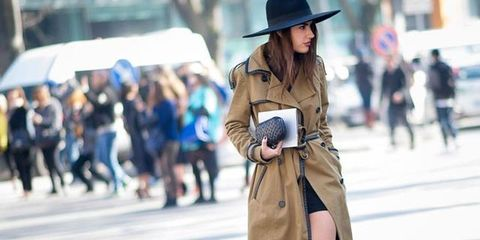 Brown, Hat, Bag, Outerwear, Street, Style, Street fashion, Umbrella, Fashion accessory, Luggage and bags,