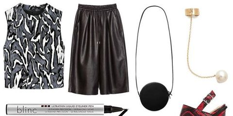 Product, Earrings, White, Style, Fashion, Black, Active shorts, Grey, Natural material, Design,