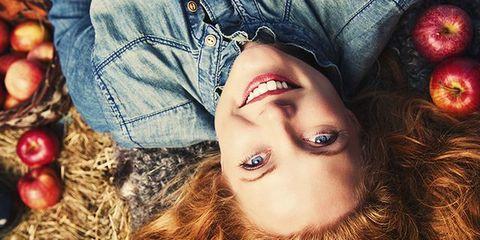 Lip, Jeans, Eyelash, Produce, Denim, Beauty, Earrings, Eye liner, Eye shadow, Brown hair,