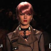 Lip, Hairstyle, Style, Darkness, Fashion accessory, Beauty, Eyelash, Bangs, Fashion, Fashion model,