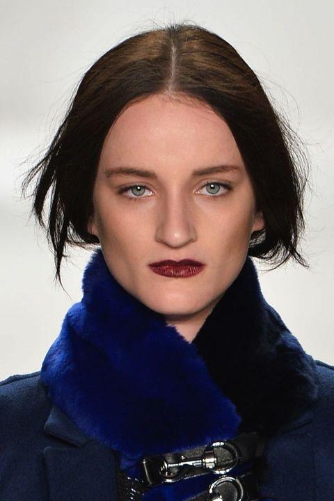 Lip, Hairstyle, Eyebrow, Jaw, Black hair, Iris, Eyelash, Electric blue, Fashion, Cobalt blue,