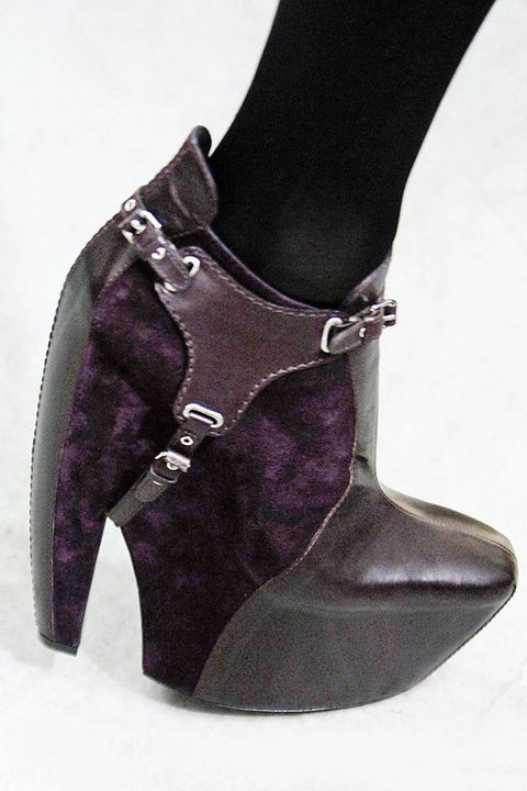 Footwear, Product, Purple, Fashion, Black, Violet, Leather, Material property, Fashion design, Costume accessory,