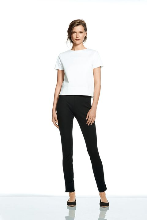 Brown, Sleeve, Trousers, Shoulder, Human leg, Standing, Textile, Joint, White, Waist,