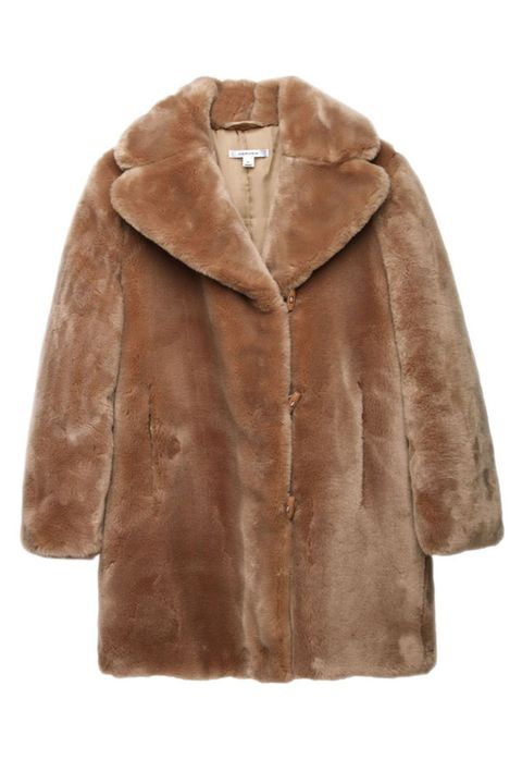 Brown, Product, Coat, Sleeve, Textile, Outerwear, Collar, Jacket, Natural material, Tan,