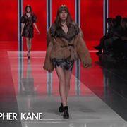 Shoulder, Red, Human leg, Fashion show, Style, Fashion model, Runway, Fashion, Beauty, Knee,