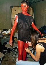 Jens Laugesen Spring 2005 Ready-to-Wear Backstage 0002