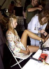 Zac Posen Spring 2005 Ready-to-Wear Backstage 0003