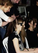 Cacharel Fall 2005 Ready-to-Wear Backstage 0003