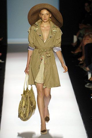 Clothing, Footwear, Brown, Shoulder, Fashion show, Textile, Joint, Hat, Style, Dress,