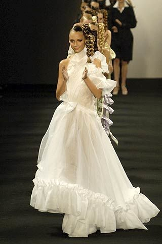 Clothing, Dress, Event, Trousers, Shoulder, Shoe, Bridal clothing, Photograph, Gown, Standing,