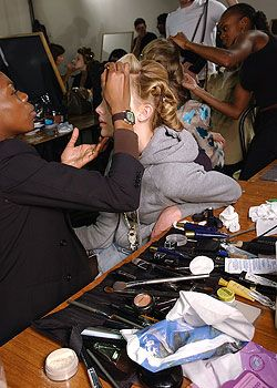 Blumarine Fall 2005 Ready-to-Wear Backstage 0001