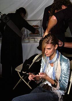 Wunderkind by Wolfgang Joop Fall 2005 Ready-to-Wear Backstage 0001