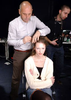 Pringle of Scotland Fall 2005 Ready-to-Wear Backstage 0001