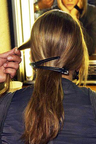 Hair, Head, Hairstyle, Style, Hair accessory, Long hair, Hair coloring, Brown hair, Temple, Neck,