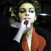 Dominique Sirop Spring 2006 Haute Couture Backstage 0001
