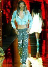 Red, Fashion, Thigh, Long hair, Boot, Fashion design,