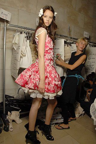Jill Stuart Spring 2007 Ready-to-wear Backstage 0001