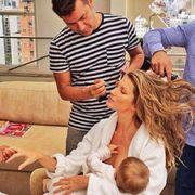gisele breastfeeding