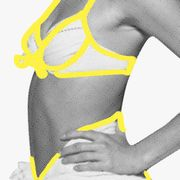 Clothing, Yellow, Shoulder, Arm, Sportswear, Joint, Muscle, Undergarment, Sleeve, Elbow,