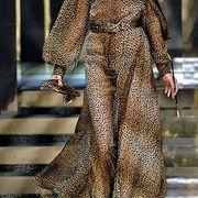 Clothing, Brown, Style, Fashion model, Street fashion, Fashion, Costume design, Fashion show, Stairs, One-piece garment,