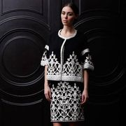 Clothing, Sleeve, Dress, Shoulder, Joint, Standing, Jewellery, Human leg, Style, One-piece garment,