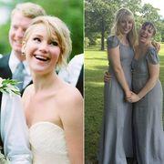 Photograph, Dress, Gown, Clothing, Bride, Wedding dress, Bridal party dress, Bridal clothing, Formal wear, Shoulder,