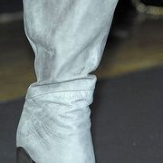 Joint, White, Black, Grey, Leather, Silver, Fashion design, Foot, Synthetic rubber,