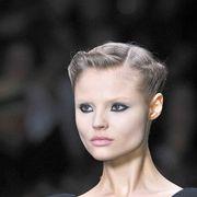 Ear, Lip, Hairstyle, Eyelash, Style, Beauty, Fashion, Neck, Fashion model, Model,