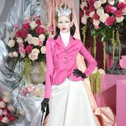 Petal, Outerwear, Flower, Pink, Style, Bouquet, Cut flowers, Boot, Fashion, Costume accessory,