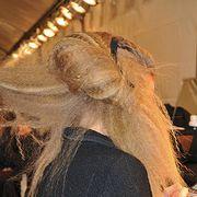 Long hair, Blond, Back, Headband, Bracelet, Costume accessory,