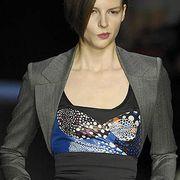 Clothing, Blue, Hairstyle, Style, Blazer, Fashion, Electric blue, Neck, Fashion model, Beauty,