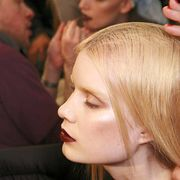 Head, Nose, Lip, Hairstyle, Chin, Eyebrow, Mammal, Interaction, Fashion, Temple,