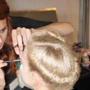 Hair, Hairstyle, Eyebrow, Eyelash, Beauty salon, Style, Temple, Makeup artist, Brown hair, Personal grooming,