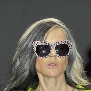 Eyewear, Vision care, Glasses, Hairstyle, Goggles, Fashion accessory, Sunglasses, Earrings, Style, Beauty,
