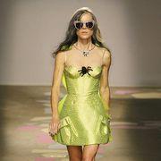 Clothing, Dress, Shoulder, Human leg, Sunglasses, Joint, Jewellery, Earrings, One-piece garment, Style,