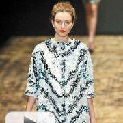 Clothing, Fashion show, Shoulder, Style, Fashion model, Runway, Fashion, Model, Eyelash, Street fashion,