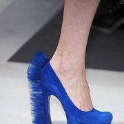 Footwear, Blue, High heels, Joint, Human leg, Basic pump, Electric blue, Fashion, Azure, Foot,