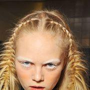 Face, Nose, Mouth, Lip, Hairstyle, Chin, Eyebrow, Eyelash, Beauty, Fashion,