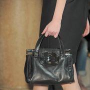Clothing, Brown, Human leg, Bag, Joint, Style, Leather, Fashion, Shoulder bag, Black,