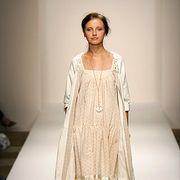 Clothing, Sleeve, Human leg, Shoulder, Dress, Textile, Joint, Fashion show, Style, One-piece garment,