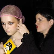Monique Lhuillier Fall 2005 Ready-to-Wear Backstage 0001