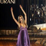 Dress, One-piece garment, Purple, Fashion, Lavender, Waist, Day dress, High heels, Violet, Cocktail dress,