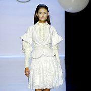 Clothing, Sleeve, Shoulder, White, Dress, Style, Fashion model, Fashion, Balloon, Neck,